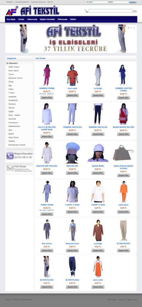 Afi Tekstil Web Sitesi