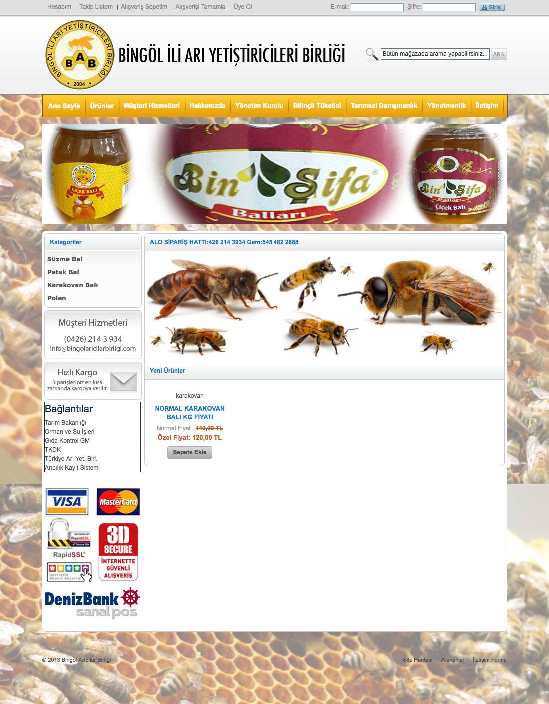 Bingöl Arıcılar Birliği Web Sitesi