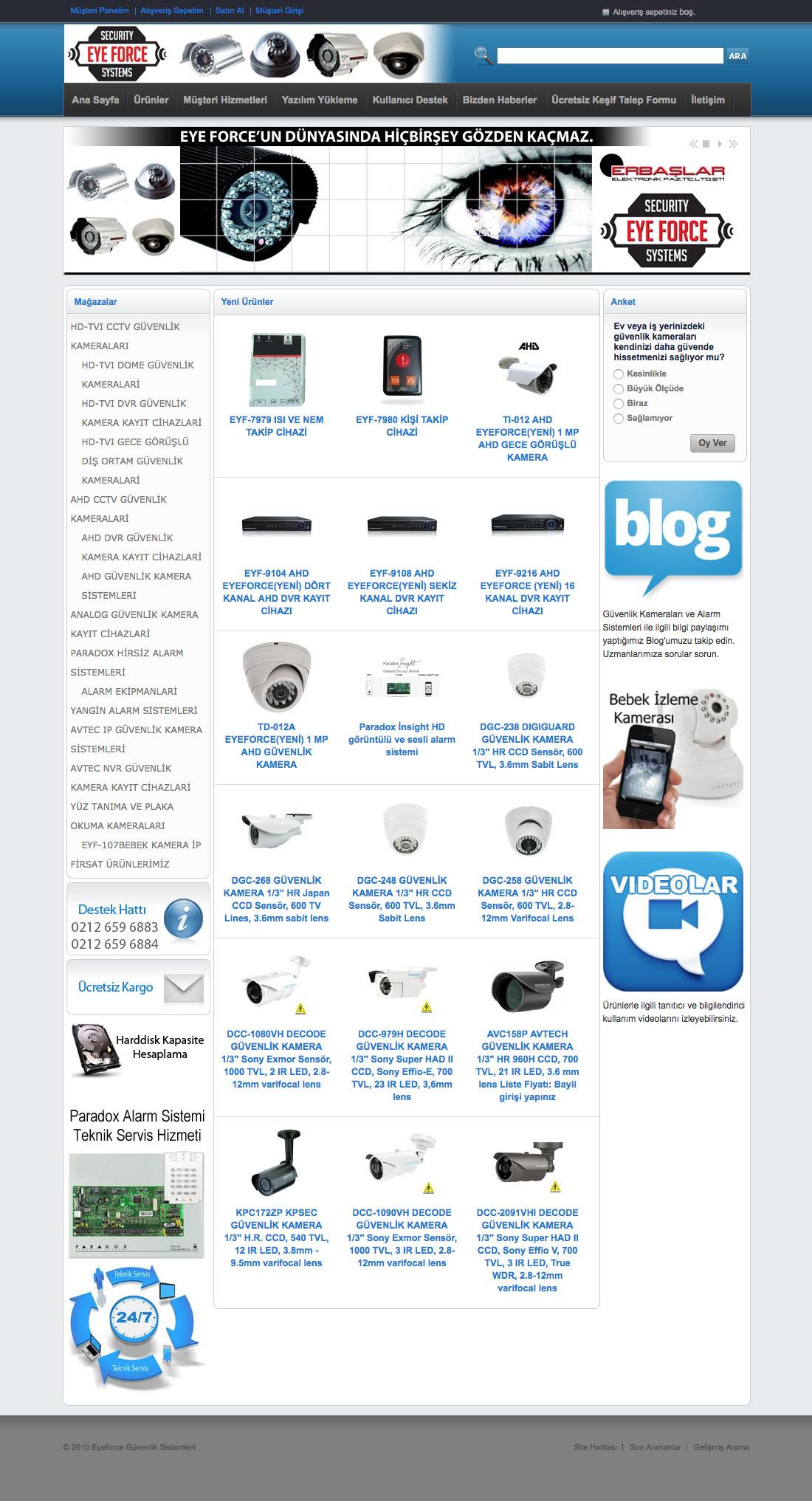 Eyeforce Güvenlik Sistemleri Web Sitesi
