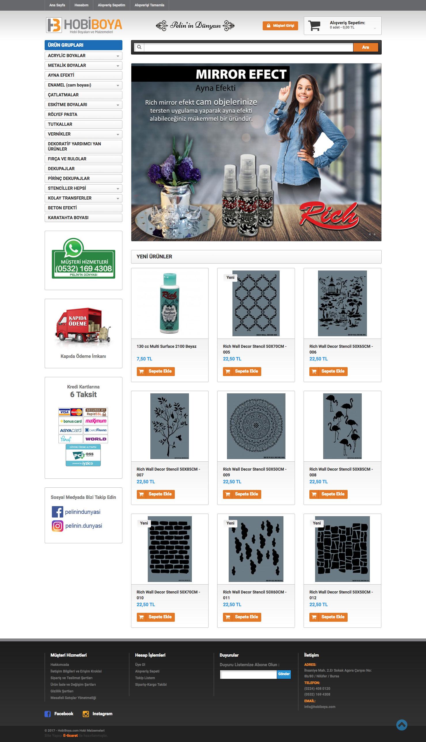 Hobi Boya Web Sitesi