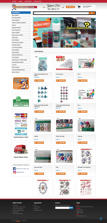 Hobi Malzemeci Web Sitesi