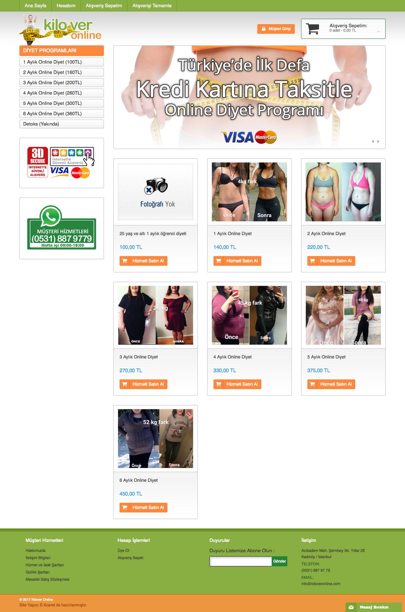 Kilover Online Web Sitesi