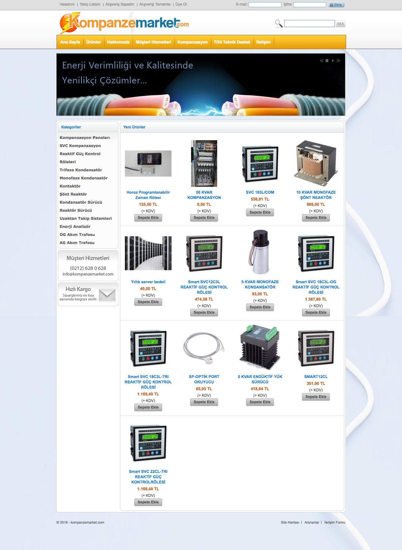 Kompanze Market Web Sitesi