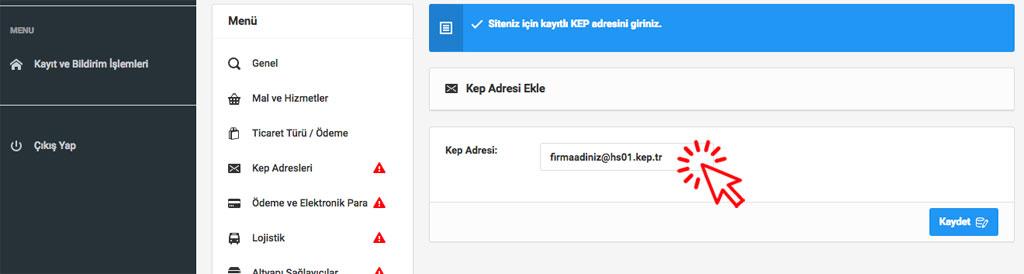 Etbis KEP Adresi